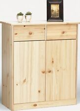 90.50-27 Commode Buffet Console Pin Massif 2 Portes 2 Tiroirs