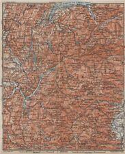 Alpes françaises. haute-savoie haute-alpes isère savoie topo-map carte 1914 old