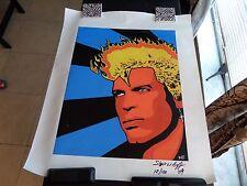 Billy Idol Portrait -Original Painting signed by Stephen Baffa Acrylic/Canvas#12