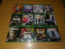 Lot of 12 Xbox One Video Games! Tomb Raider Batman Mafia Iii Cars 3 Ufc 2 Dance