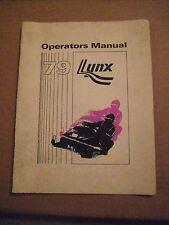 ARCTIC CAT LYNX OPERATORS MANUAL 1979!