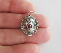 Sterling Silver Lion face charm
