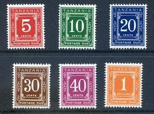 Tanzania 1971 Postage Dues on glazed paper unmounted mint (2016/11/21#01
