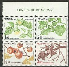 MONACO/ Pflanzen MiNr 1502/05 ** aus Block