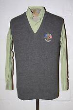 Peter Scott 1997 Ryder Cup Valderrama Gray Pure Lambswool Sweater Vest Shirt 40