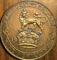 1911 GREAT BRITAIN GEORGE V SILVER SHILLING COIN - Fantastic toned example!