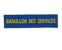 Canadian military bataillon des services badges