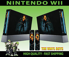 NINTENDO WII STICKER GHOST RIDER JOHNNY BLAZE SKULL CHAINS SKIN & 2 PAD SKINS