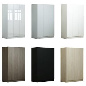 3 Door Wardrobe - Gloss or Matt White. Matt Black or Grey. Rustic or Light Oak.
