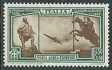 1932 REGNO ESPRESSO AEREO GARIBALDI 4,50 LIRE MH * - Y078