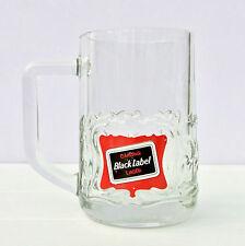 Vintage Retro Carling Black Label Lager Half Pint Pot Glass Tankard