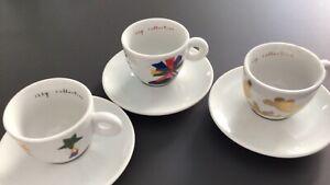 3 ILLY Espressotassen Marco Lodola, Amici Collection, 1998  neuwertig