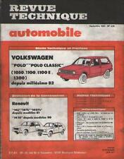 RTA Revue Technique Automobile Volkswagen Polo Classic & Renault 14 No 425 /1982
