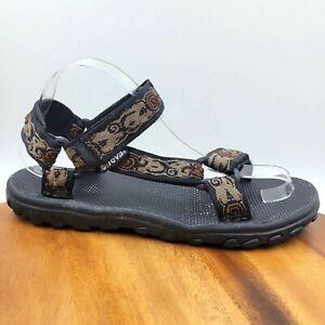 Teva Brown Black Strappy Open Toe Hiking Trail Sport Water Sandals Men's 9 1585