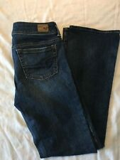 American Eagle Women's Kick Boot Stretch Distressed Denim Blue Jeans Size 6