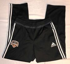 Men's Adidas MLS Houston Dynamo Soccer Warm Up Pants Size Medium Black
