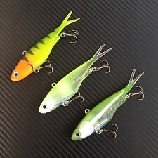 3x Mullet Transam Lures Soft Vibe 115mm Fishing Jacks Thready Lures Barra