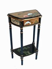 Hand Painted Gold Leaf with Crane Design Hall Table Oriental Furniture Chinese