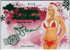 2012 BENCHWARMER HOLIDAY BONUS AUTO:TINA JORDAN #7/10 AIR MAIL AUTOGRAPH PLAYBOY