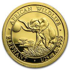 2016 Somalia 1/25 oz Gold African Elephant BU - SKU #95038