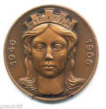 REPUBBLICA ITALIANA XX ANNIVERSARIO 1966 MEDAGLIA COMMEMORATIVA