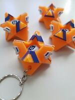 Ghost Shell Fan Made Destiny Keychain Ring Orange Vanguard Shell - Moveable EYE!