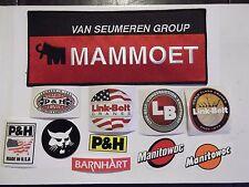Oilfield Rig Manitowoc Crane LinkBelt P&H Steelworker hardhat sticker