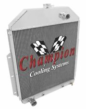 3 Row Ace Champion Radiator for 1942 - 1952 Ford Truck Ford Configuration