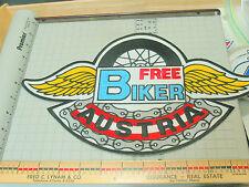 "Free Biker Club Austria Motorcycle Jacket Patch, Huge 12"" Patch , ( )"