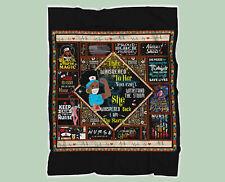 Black Nurse Magic Quilt Blanket, Gift for Nurse, Nurse To Be Quilt Blanket