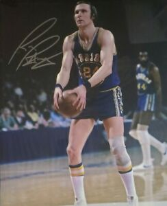 Rick Barry Hand Signed 8X10 Photo W/ Holo COA Golden State Warriors