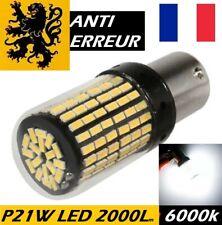 1x P21W LED HP 2000lm 6000k BLANC 144SMD 12V 20W 360° GLOBE COMPACT ANTI ERREUR