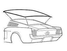 1967 68  Mustang Fastback Rear Glass Gasket Window Seal