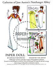 Reprint - Catherine Of Jane Austen'S Northanger Abbey Paper Doll - D. Hendricks