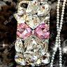 Jewelled Rhinestone Bling Crystal Diamond TPU+PC Clear Phone Case Cover Skin New