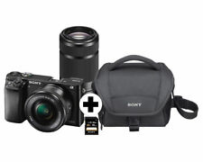 SONY Alpha 6000 Kit Systemkamera 24.7 MP Objektiv 16-50 mm, 55-210 mm, NEU OVP
