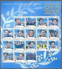 Australia-2004 Olympics Gold Medal Winners special sheet fine used cto
