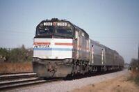 AMTRAK Railroad Locomotive 398 Silver Star train SANFORD FL Original Photo Slide