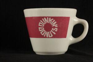 Dunkin' Donuts Restaurant China Coffee Cup Mug 1981 Pink Band Homer Laughlin