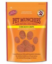Pet Munchies Chicken Chips ~ 8 x 100g Packs ~ 100% Natural Dog Treats