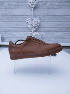 CLARKS CALDERON SPEED TAN LEATHER TRAINERS SHOES SIZE UK 8!!!