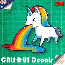 Unicorn Vomit Rainbow Dab Decal Sticker - Car Luggage Skateboard. 3M Vinyl 100mm