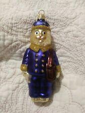 "1996 Patricia Breen #9629 Le Postal Cat Blown Glass Christmas Ornament 5"""