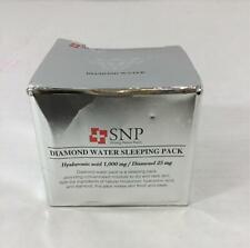 Snp Diamond Water Sleeping Pack Moisturizer Cream Hyaluronic Acid 1000mg