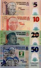 NIGERIA 2008 11 5 10 20 50 Naira X4 GREAT UNCIRCULATED POLYMER BANKNOTES
