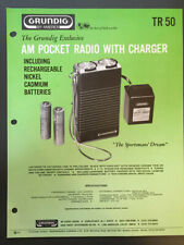 GRUNDIG TR50 AM POCKET RADIO WITH CHARGER BROCHURE *Original*