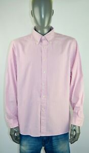 Ralph Lauren Luxury Oxford men casual multicolored shirt, size XL, VGC with logo
