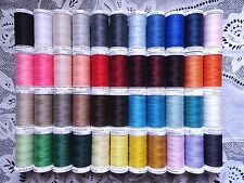 44 NEW different colors GUTERMANN 100% polyester sew-all thread 274 yard Spools