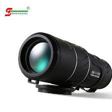 UK 30X52 Dual Focus Zoom Green Optic Lens Armoring Travel Monocular Telescope