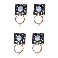Pack of 4 12V 3Pin 60mm Mini 6cm Fan Silent Computer Cooler Cooling Fan PC